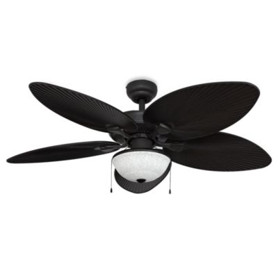 52-Inch Cabo Bay Outdoor Bronze Ceiling Fan with Globe Light
