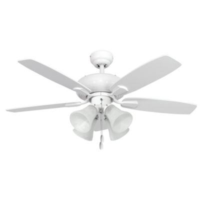 42-Inch Dorset 4-Light White Ceiling Fan