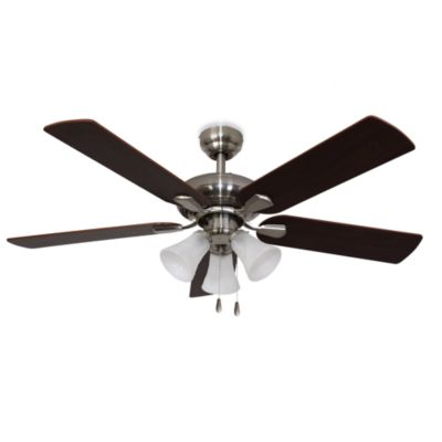 42-Inch Abbington 3-Light Brushed Nickel Ceiling Fan