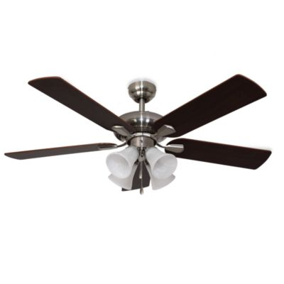 42-Inch Abbington 4-Light Brushed Nickel Ceiling Fan