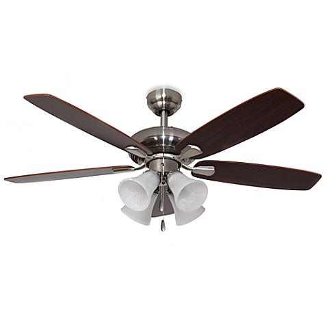 Buy 42 Inch Dorset 4 Light Brushed Nickel Ceiling Fan From