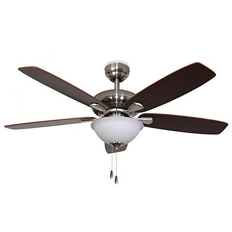 42-Inch Dorset Bowl Light Brushed Nickel Ceiling Fan