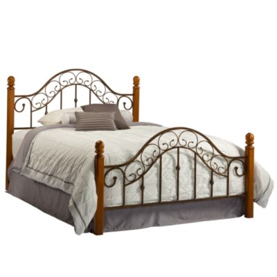 Hillsdale San Marco King Bed Set with Post Kit & Rails