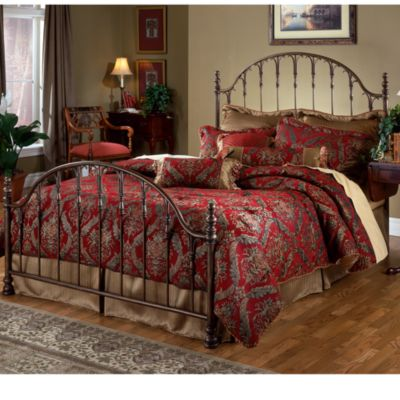 Hillsdale Tyler King Bed Set with Post Kit & Rails
