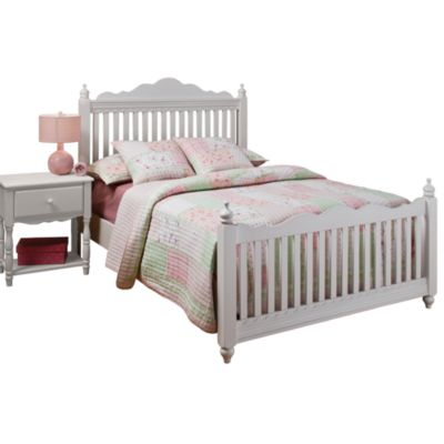 Hillsdale Lauren Post Twin Bed Set with Rails