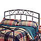 Hillsdale Wendell Black Full/Queen Headboard with Rails