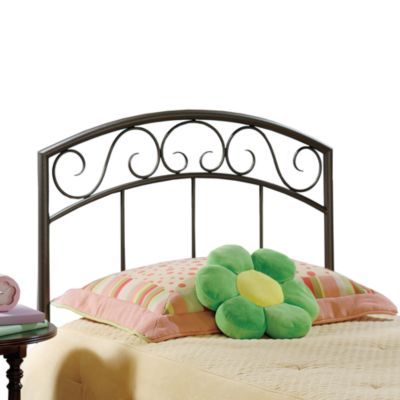 Hillsdale Wendell Copper Pebble Headboard with Rails