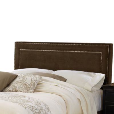 Hillsdale Amber Queen Headboard with Rails in Chocolate