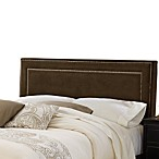 Hillsdale Amber Chocolate Fabric Queen Headboard