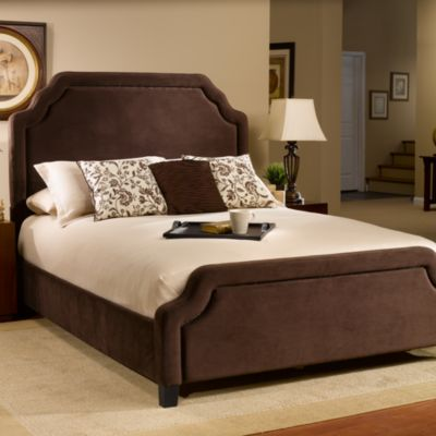 Hillsdale Carlyle Chocolate Fabric Queen Bed Set