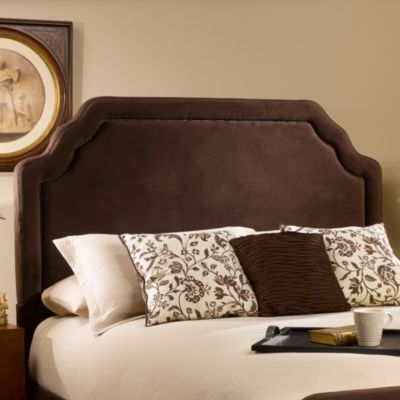 Hillsdale Carlyle Queen Headboard with Rails in Chocolate