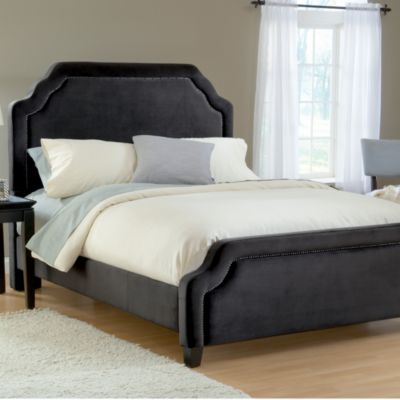 Hillsdale Carlyle Pewter Fabric Queen Bed Set