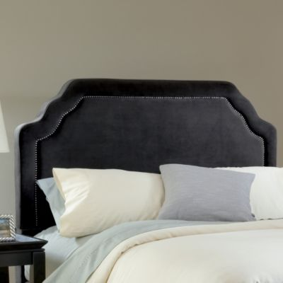 Hillsdale Carlyle Pewter Fabric Queen Headboard