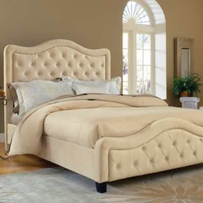 Hillsdale Trieste Buckwheat Fabric Queen Bed Set