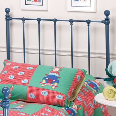 Hillsdale Molly Twin Bed Set with Rails in Blue