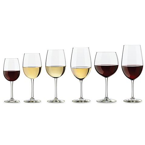 libbey 174 vineyard reserve assorted 6 piece wine glass set