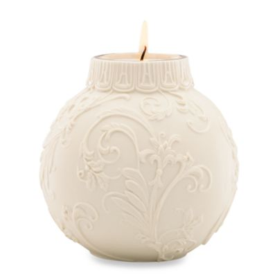 Lenox® Holly Scrollwork Porcelain Votive Holder