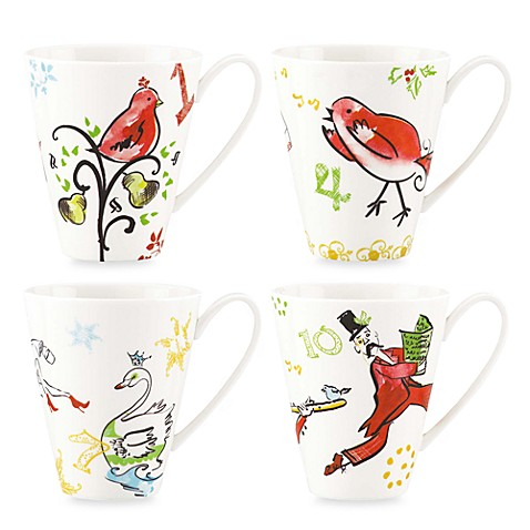 12 Days of Christmas Lenox® Mugs - Set of 4