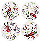12 Days of Christmas Dessert Plates - Set of 4