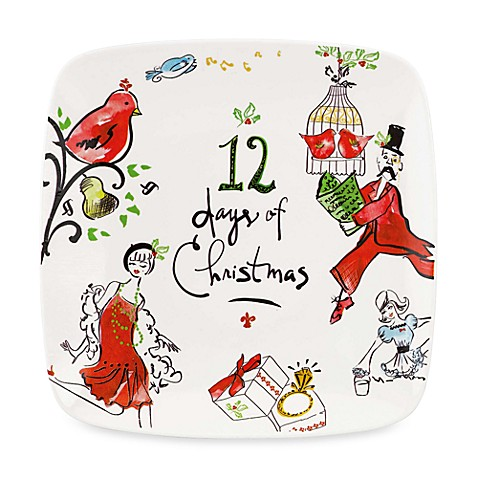 12 Days of Christmas Square Lenox® Tray