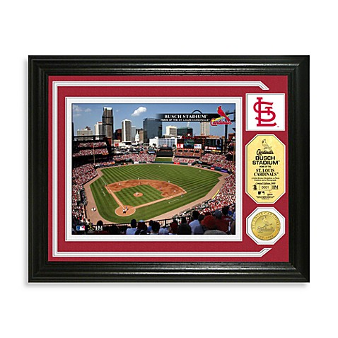 Busch Stadium Park Minted Team Medallion Photo Mint Frame