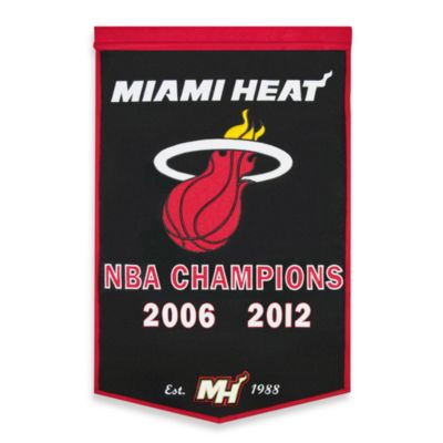Miami Heat 2012 NBA Champions Dynasty Banner