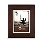 Prinz Wyatt Dark Walnut 5-Inch x 7-Inch Wood Picture Frame