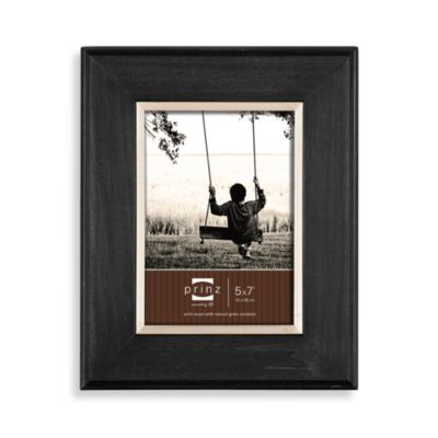 Prinz Artisan Wyatt 5-Inch x 7-Inch Wood Picture Frame in Black