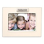 Sentiment White Ceramic Glazed 4-Inch x 6-Inch Picture Frame