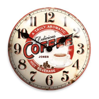 Jones® 12-Inch Vintage Coffee Clock