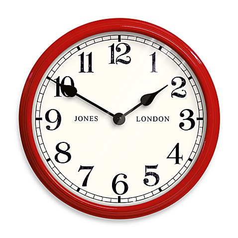 Jones® 10.5-Inch Classic and Contemporary Clock