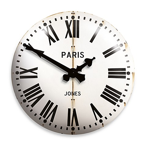 Jones® 15.75-Inch Classic Parisian Clock