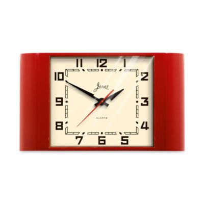 Jones® Retro Red Underground Clock