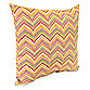 Jordan Roselle 16-Inch Square Outdoor Throw Pillow in Spice