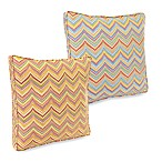 Roselle 18-Inch Boxed Outdoor Throw Pillow Collection with Welt