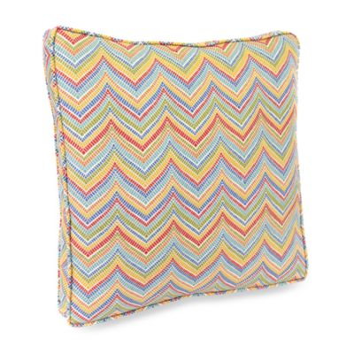 Jordan Roselle 18-Inch Boxed Outdoor Toss Pillow with Welt in Garden