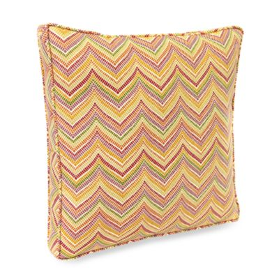 Jordan Roselle 18-Inch Boxed Outdoor Toss Pillow with Welt in Spice