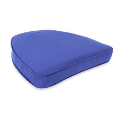 Jordan Solar Curved Seat Cushion in Admiral Pacific Blue
