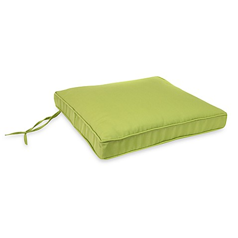 Jordan 19.5-Inch Square Seat Cushion in Kiwi