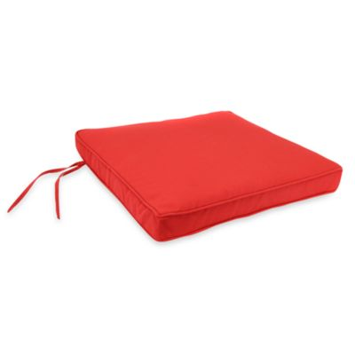 Jordan 19.5-Inch Square Seat Cushion in Salsa Red