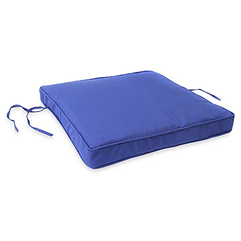 Jordan 19.5-Inch Square Seat Cushion in Admiral Pacific Blue