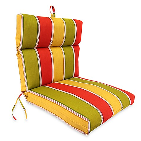 Jordan Outdoor Chair Cushion in Napa Stripe Salsa
