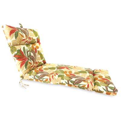 Outdoor Chaise Lounge Cushion in Cayuga Garden