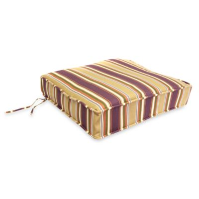 Jordan Deep Seating Cushion Chair Pad in Tuscabella Vineyard