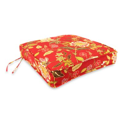 Jordan Deep Seating Cushion Chair Pad in Alberta Salsa