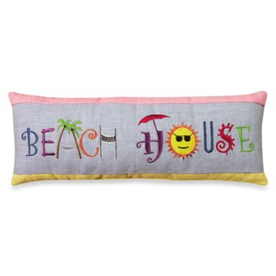 Beach House Oblong Toss Pillow