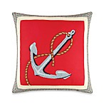 Atlantic Isle Hooked Anchor Square Pillow