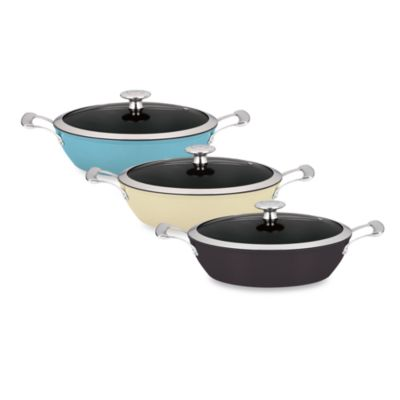 "Mario Batali by Dansk™ ""Mario Light"" 4-Quart Braiser in Black"