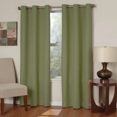 Insola Mandalay Microfiber 84-Inch Grommet Blackout Window Curtain Panel in Black