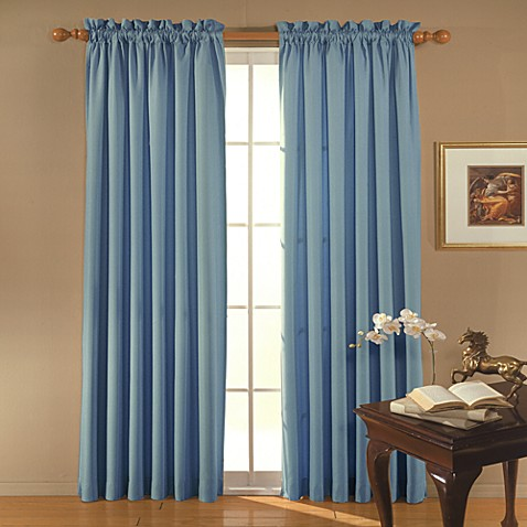 Clark Rod Pocket Blackout 95-Inch Window Curtain Panel in Wedgewood